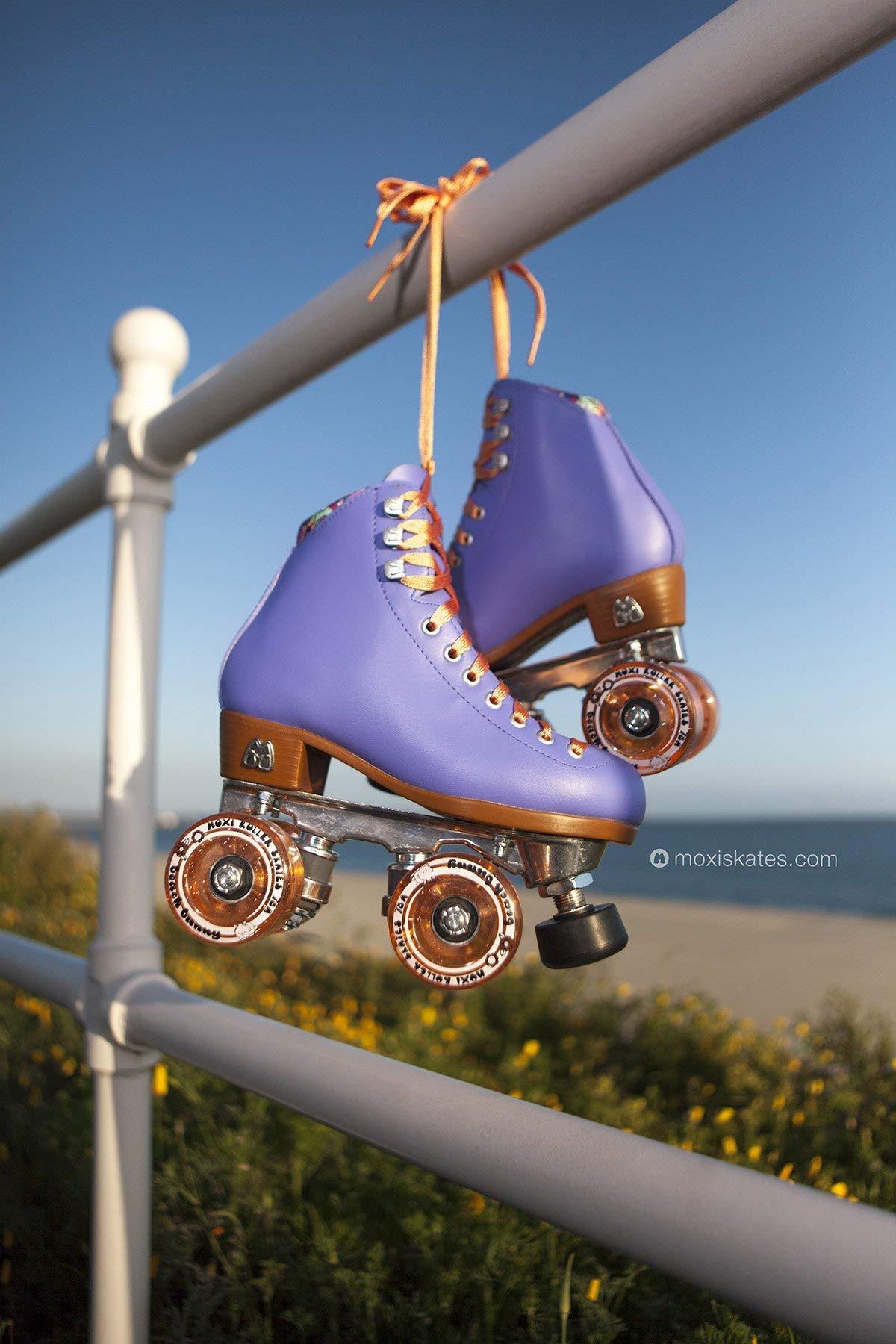 Moxi Skates - Beach Bunny - Fashionable Womens Roller Skates | Periwinkle Sunset | Size 3 by Moxi (Image #4)