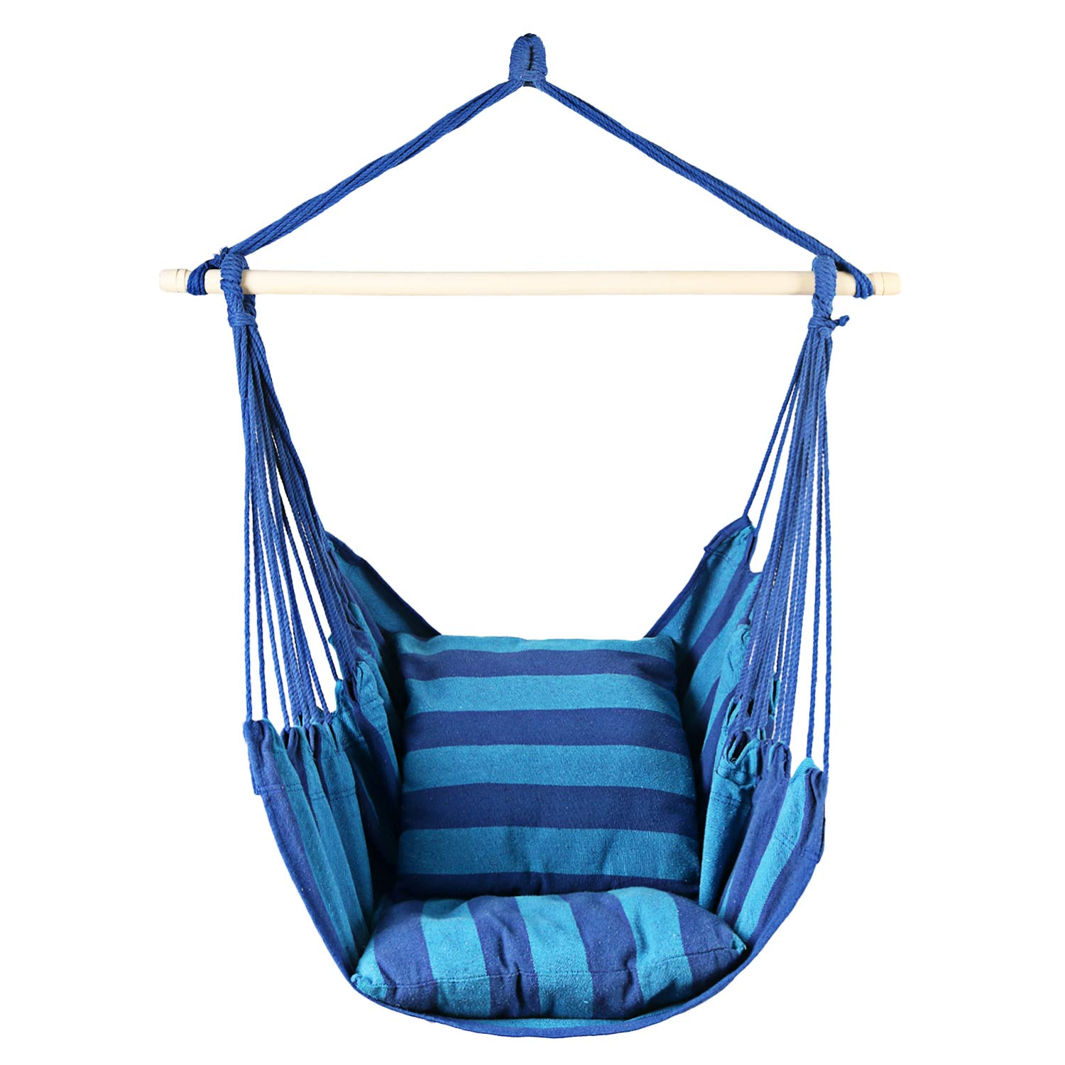 Bathonly Hanging Hammock Chair, Swing Chair with 2-Seat Cushions for Indoor and Outdoor