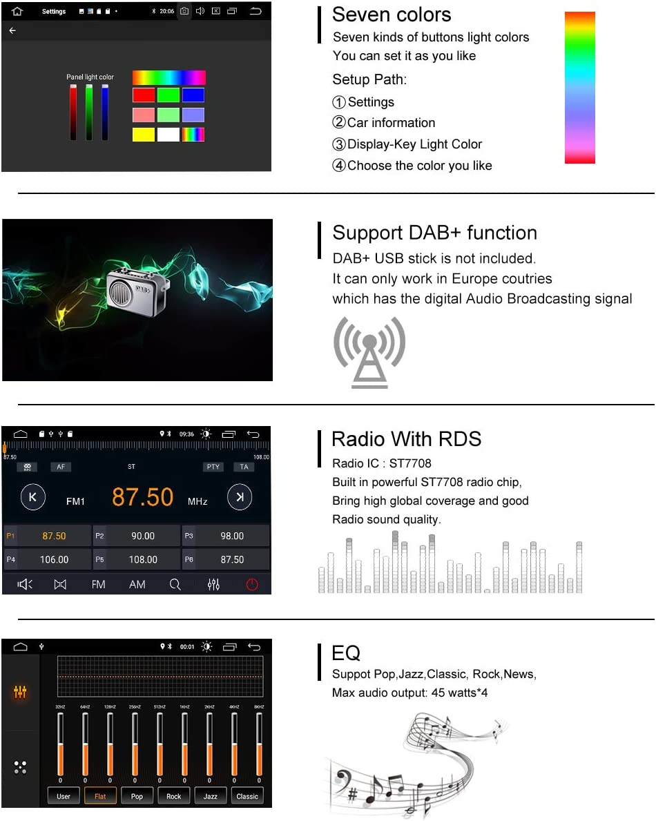 ZLTOOPAI 7 Zoll Android 10 Autoradio f/ür Mercedes-Benz GL ML KLASSE W164 X164 ML350 ML450 ML500 GL320 GL450