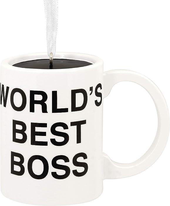Hallmark Christmas Ornament, The Office World's Best Boss Coffee Mug
