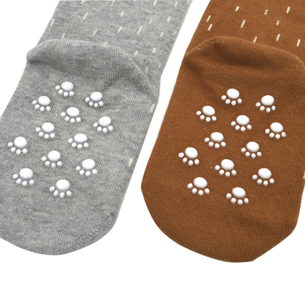 c27cf390945 Amazon.com  Shorven Baby Kids Cotton Socks Knee High Long Socks Anti Skid  With Grips 2 Packs  Clothing