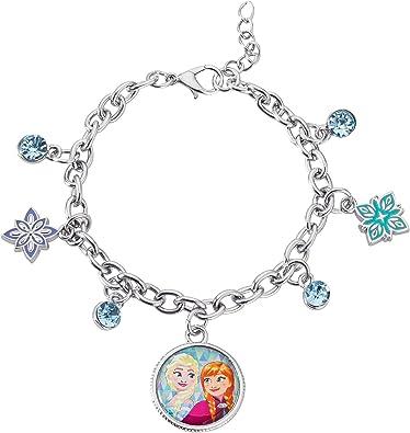 Disney Princess Frozen Charm Bracelet BFF Best Friends Sisters Anna /& Elsa Set 2