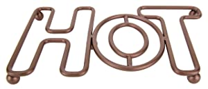 Home Basics Amsterdam Collection Decorative Cast Iron Trivet For Kitchen Or Dining Table, Pot, Pans, Hot Dishes, Serve ware, Bronze