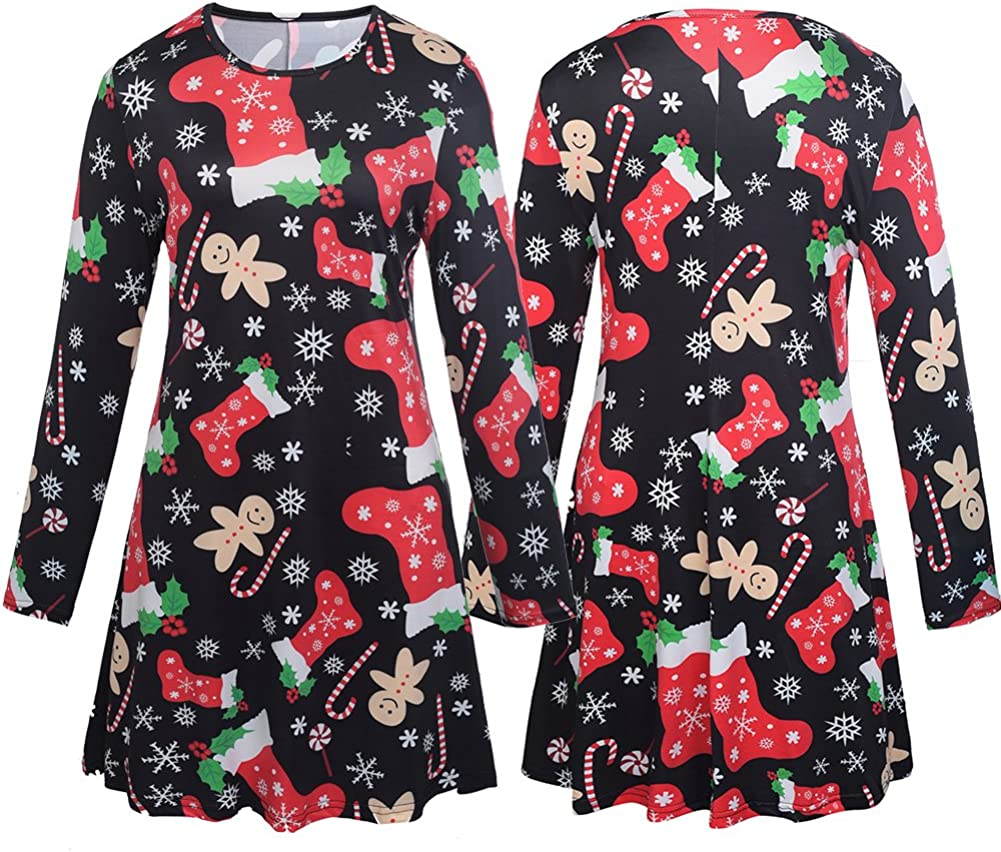 Matching Mom and Daughter Christmas Dresses Outfits Christmas Socks Pattern Matching Shirt Dress Christmas Family Clothes Set