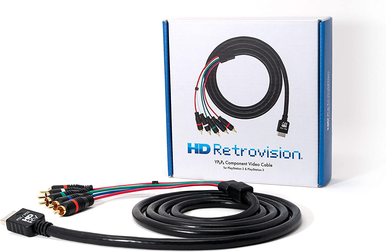 HD Retrovision PlayStation 2/3 (PS2/PS3) Premium YPbPr Component Video Cable