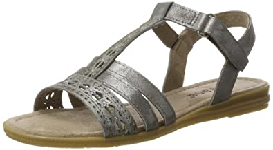 Jana Damen 28114 Offene Sandalen mit Keilabsatz