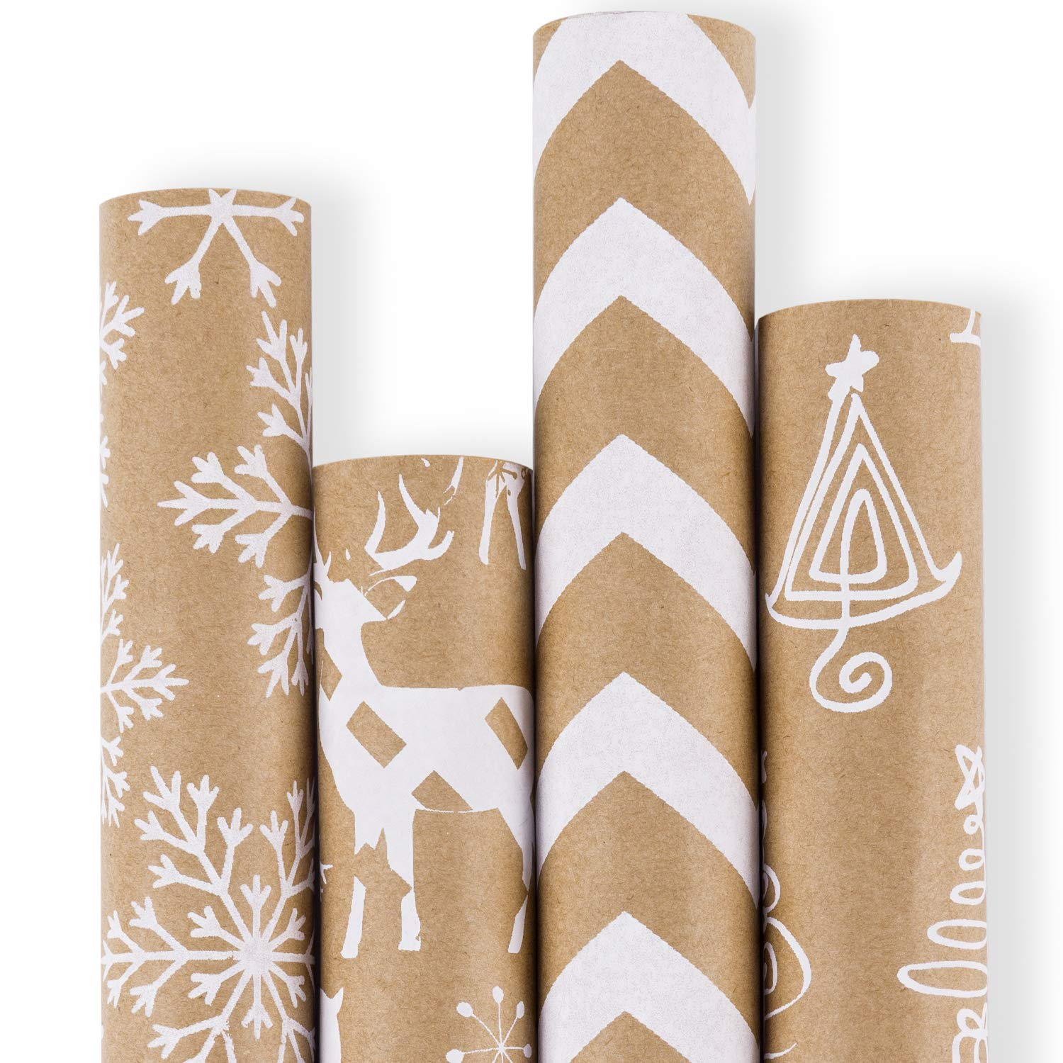 STRONG ECO-FRIENDLY KRAFT WRAPPING PAPER SHEETS GIFTS ARTS 90gsm *ALL SIZES*