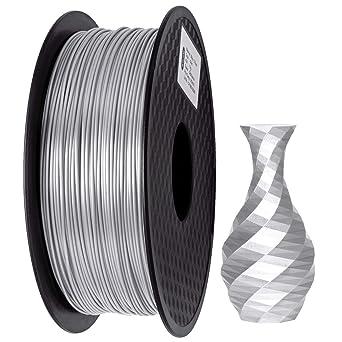GIANTARM Filamento PLA 1.75mm Silk Plateado, Impresora 3D PLA ...