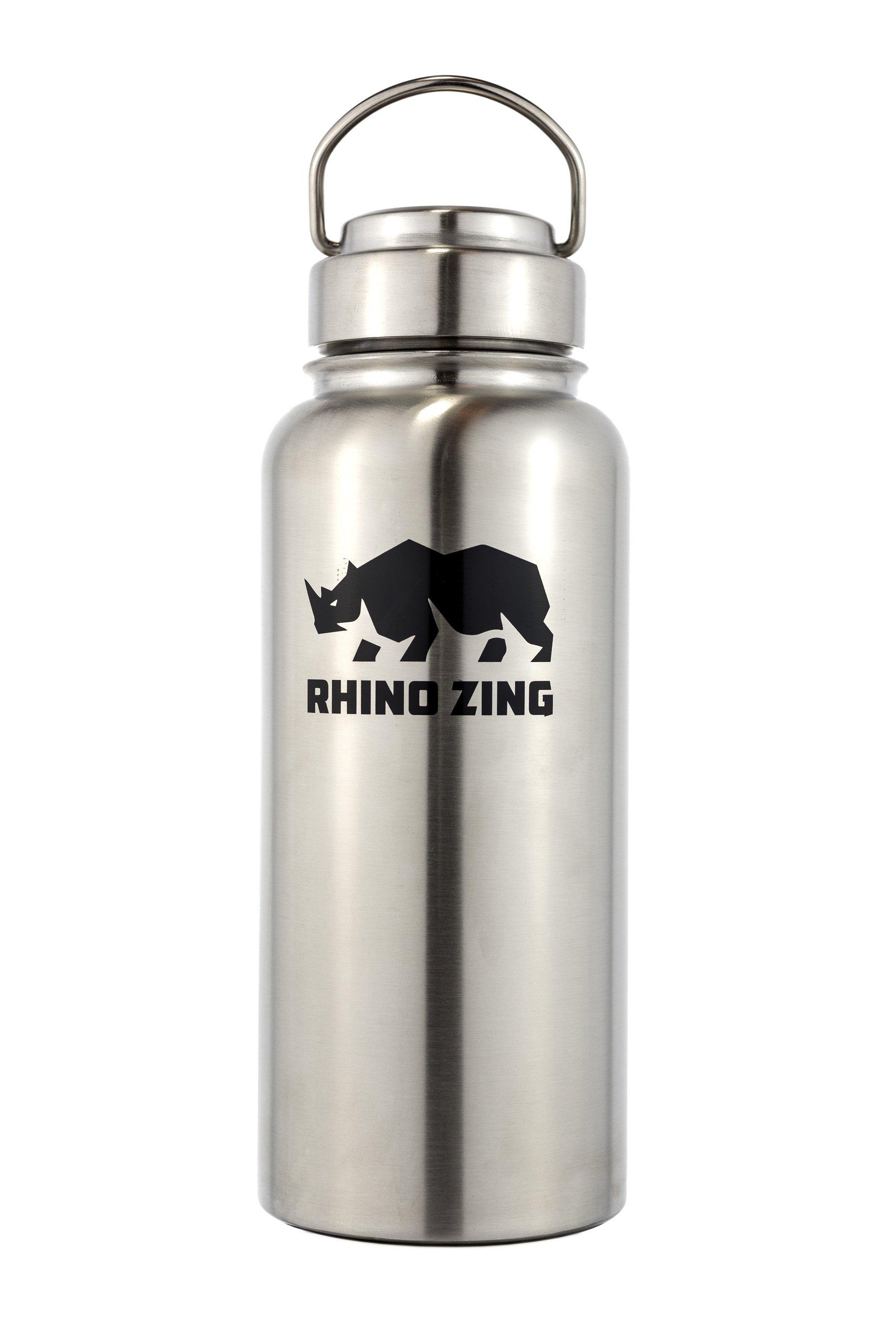 32 Oz Growler Stainless Steel Bottle SS Lid