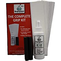 Brampton Complete Grip Kit for Golf Club Regripping – Includes 15 Tape Strips, Rubber Vice Clamp, and 4oz Solvent w/Sprayer