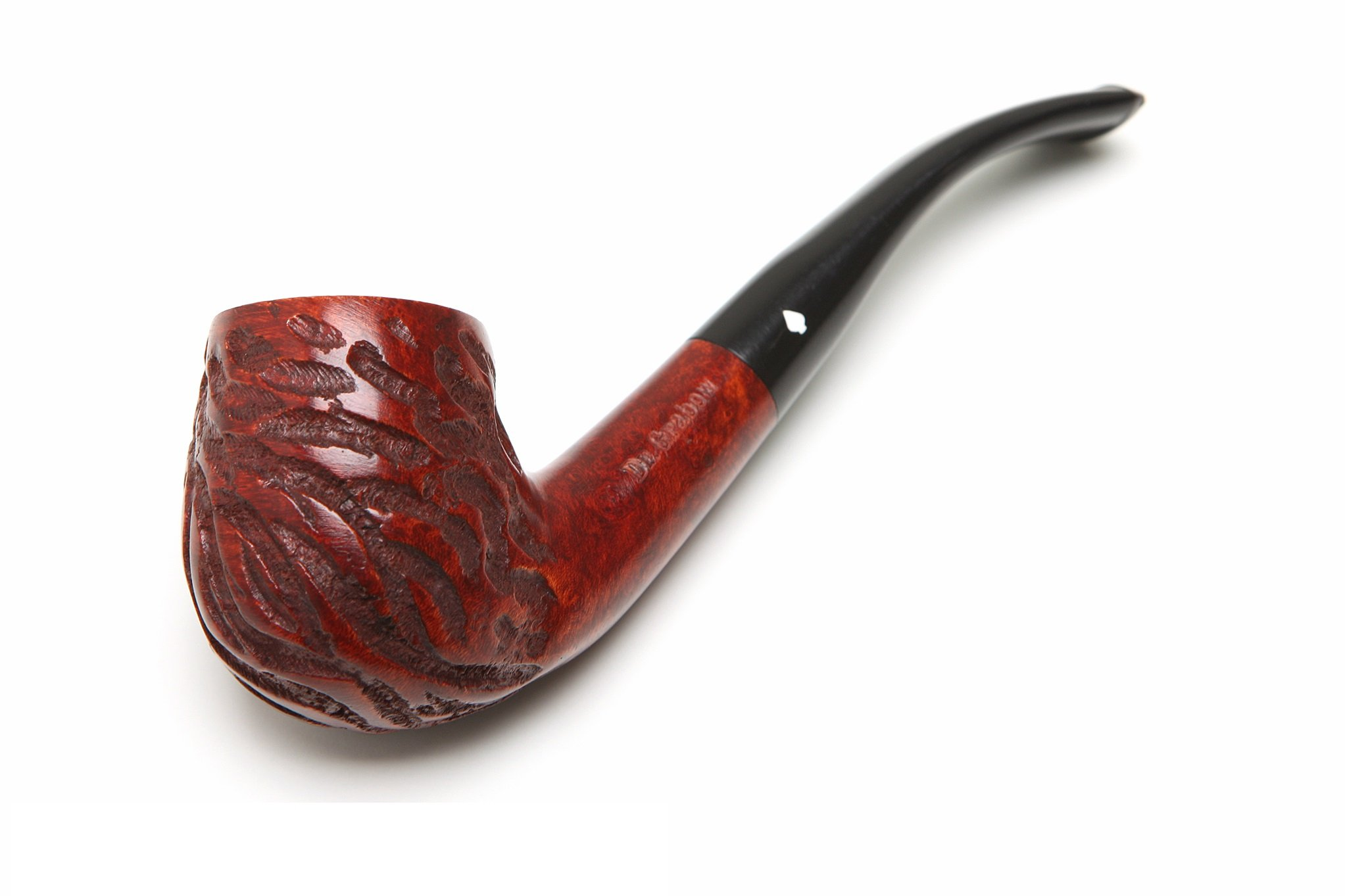 Dr Grabow Full Bent Rustic Tobacco Pipe by Dr. Grabow