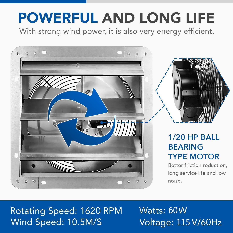 iPower 12 Inch Shutter Exhaust Fanbarns