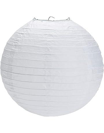 Yizhet 10piezas 30cm Farolillo de Papel Blanco linternas de Papel Redondo para Decoración, la Fiesta