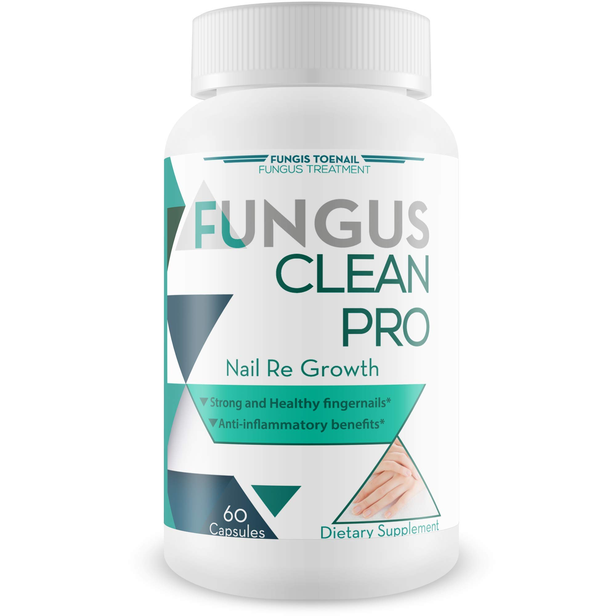 Fungus Clean Pro - Nail Re Growth - Fungal Damage Recovery Blend - Strong and Healthy Nails - Anti Inflammatory Benefits - Restore Strong, Clear, and Thick Nails - Vitamin and Mineral Nail Blend by Fungis Toenail Fungus Treatment
