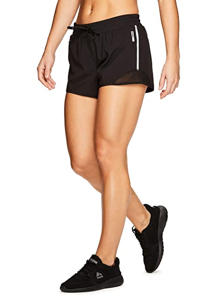 465ddd01c RBX Active Women's Mesh Workout Running Shorts with Inner Brief S-19 Black S