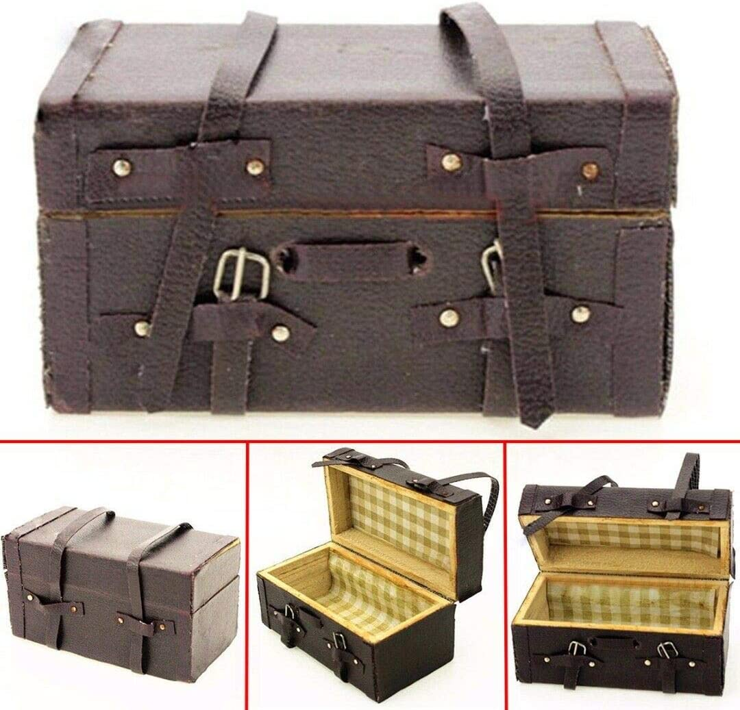 1//10 Scale RC Car Truck Accessories Wood Leather Luggage Storage For SCX10 TRX-4