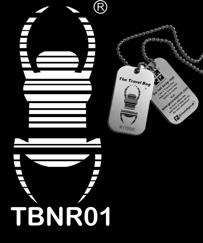 Magnetischer trackbarer Travelbug Autoaufkleber wieder ablösbar magnet Tb 16 cm schwarz - weiß inklusive Trackingnummer Travelbug und Copytag geo-versand 124