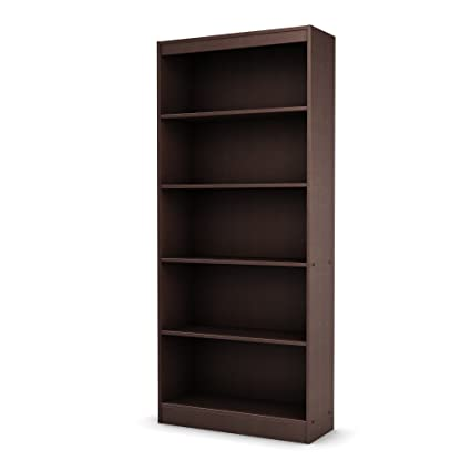 Awesome South Shore Axess Collection 5 Shelf Bookcase, Chocolate