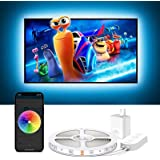 Govee TV Backlights, 10FT LED Lights for TV Work with Alexa, Google Assistant and APP, Music Sync, 16 Million RGB DIY Colors,