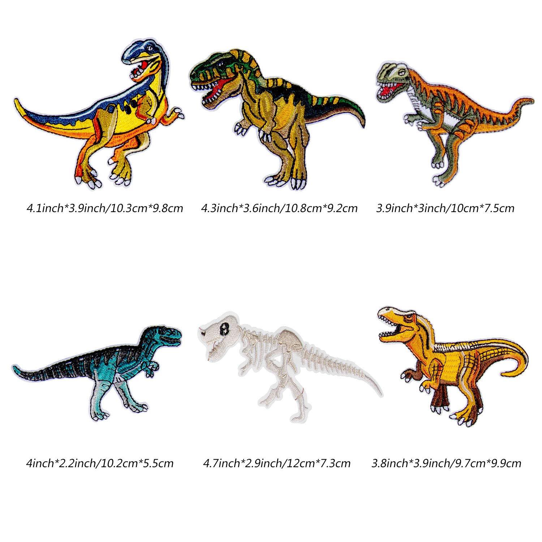 Patch Sticker - Comius 12 Pcs Dinosaur Apliques, Parches Ropa ...