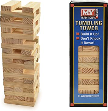 Juego tradicional de torre en bloques M.Y.: Amazon.es: Juguetes y juegos