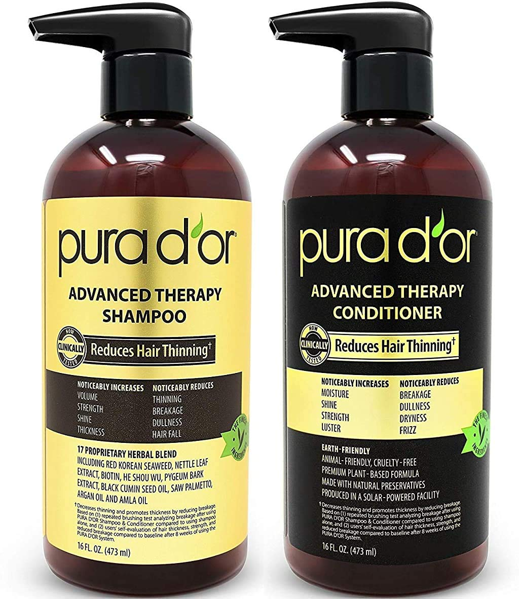 Pura D'Or Advanced Therapy Shampoo and Conditioner