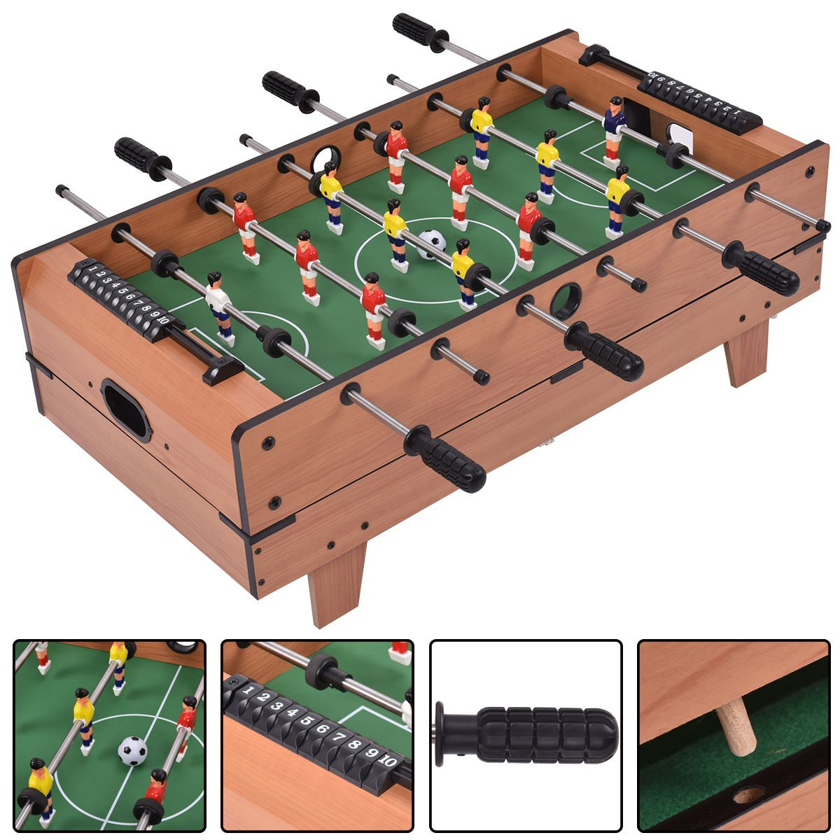 Amazon.com : 4 In 1 Multi Combo Foosball Soccer Table Family Sport Game Air  Hockey Tennis Football Pool : Sports U0026 Outdoors