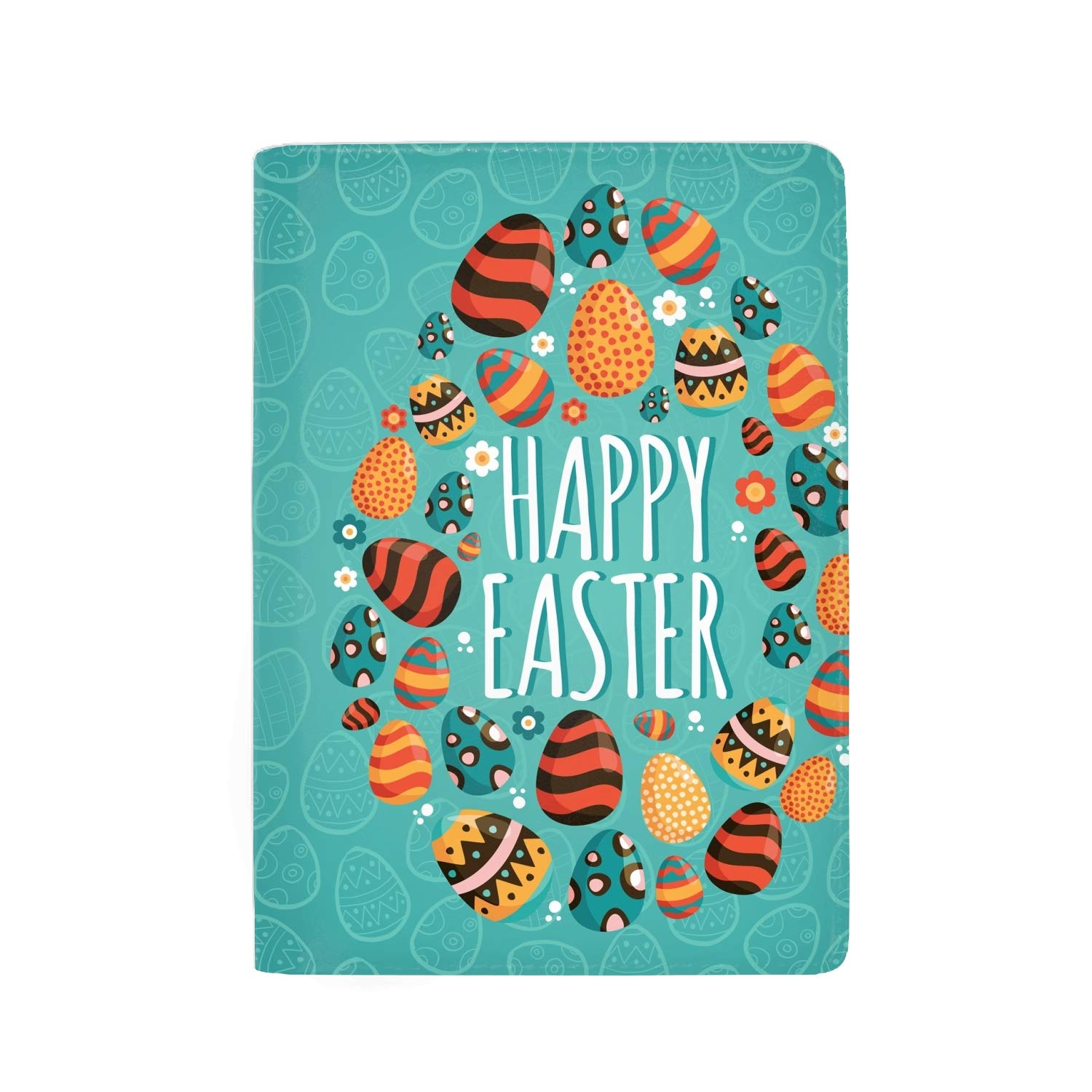 Leather Passport Holder Wallet Cover Case RFID Blocking Travel Wallet Happy Easter Day