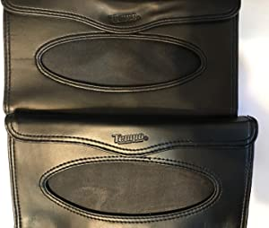 ATB Car & Truck Black Leather Visor Tissue Case - 2 Per Order