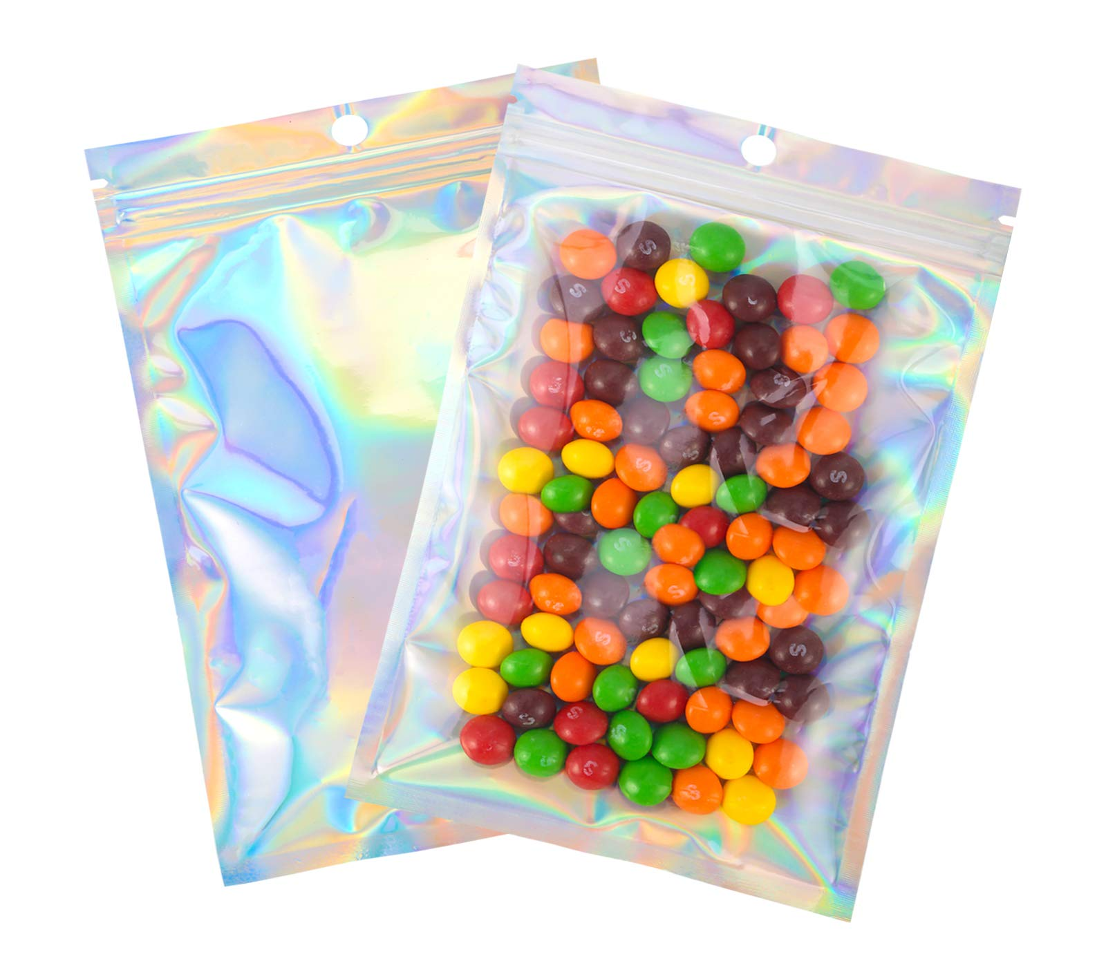 100 Pcs 5.5×7.8 Inch Resealable Smell Proof Bags Mylar Ziplock Bag Cute