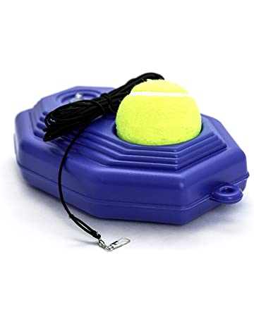 by.RHO Tennis Trainer Rebounder Ball | Cemented Baseboard with Rope Solo Equipment Practice Training