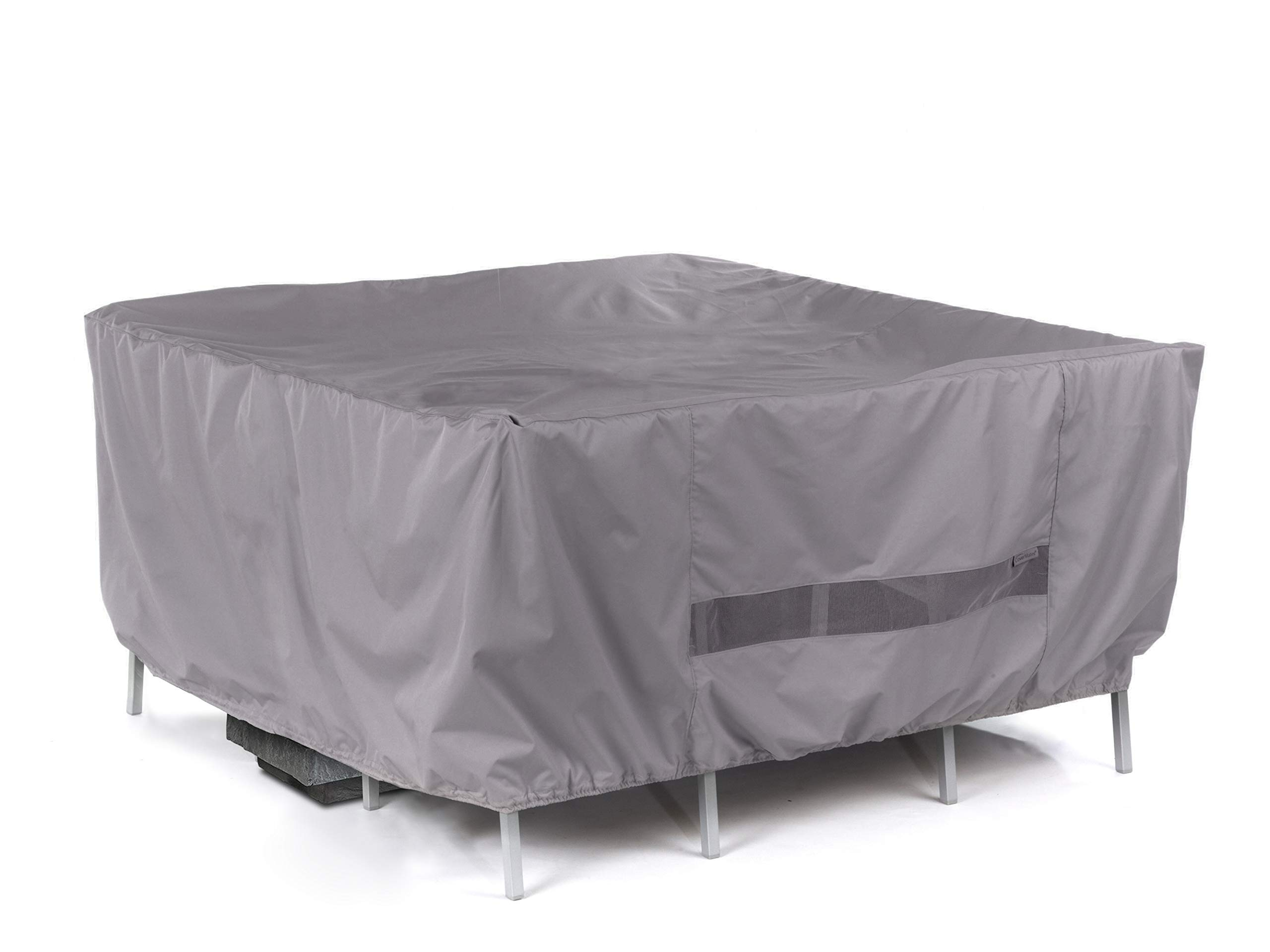 Covermates - Square Firepit/Chair Set Cover - 66W x 66D x 30H - Elite Collection - 3 YR Warranty - Year Around Protection - Charcoal by Covermates