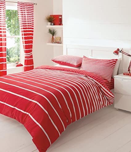 New Luxury Linear Duvet Quilt Cover /& Pillow Case Bedding Set All Sizes