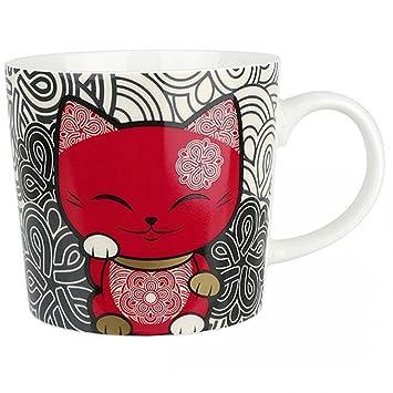 Mani Lucky Porte Rouge The Chat Cat Bonheur Mug Gris rxCoBde