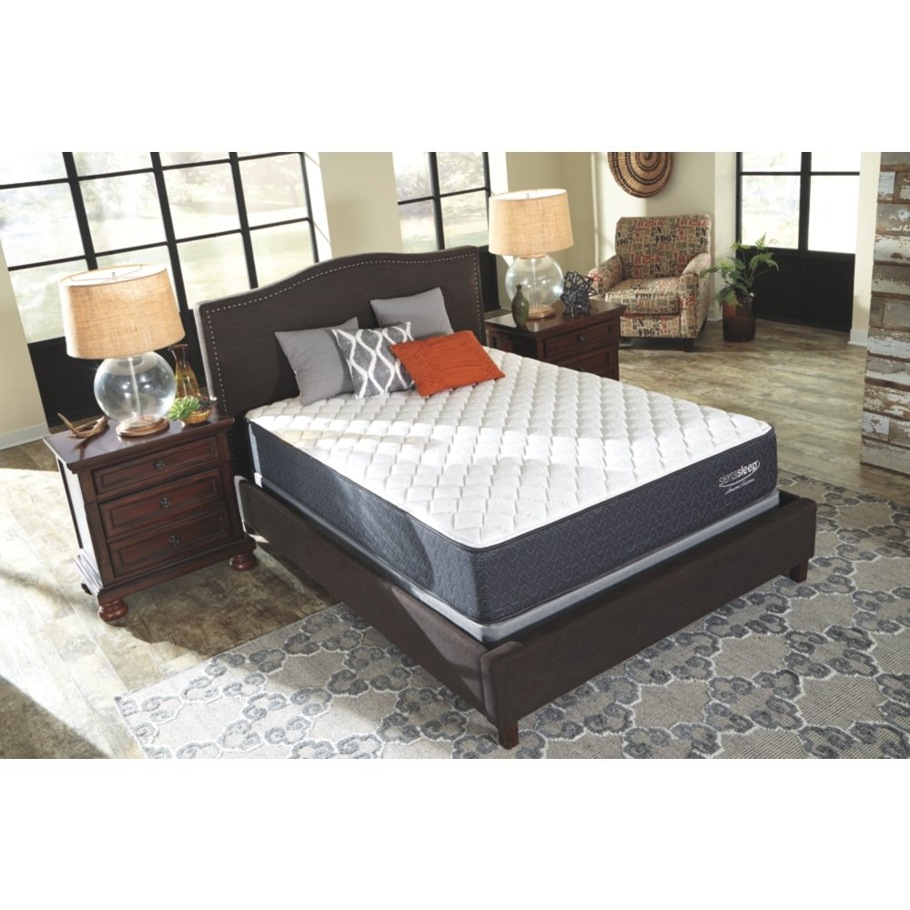 Ashley Furniture Signature Design - Sierra Sleep - Limited Edition Firm Mattress - Traditional Inner Spring Queen Size Mattress - White by Sierra Sleep by Ashley
