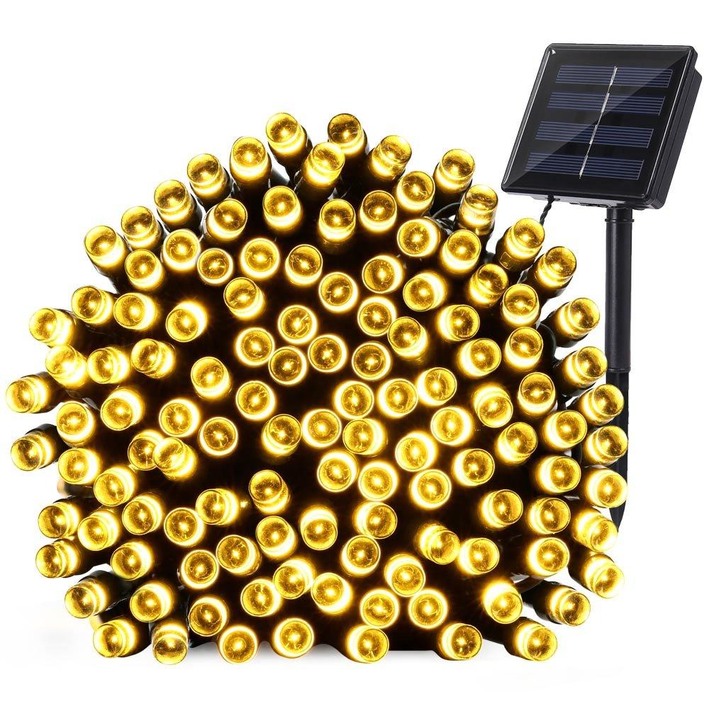 Qedertek Solar Christmas Lights, 72ft 200 LED Fairy Garden String Lights Decorative Lighting for Home, Lawn, Patio, Garden