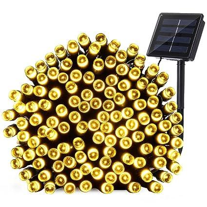 Qedertek Solar Christmas Lights, 72ft 200 LED Fairy Garden String Lights  Decorative Lighting For Home