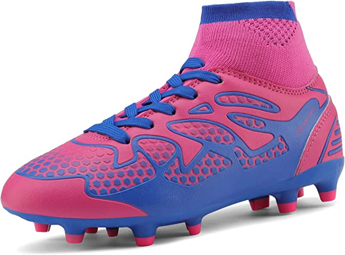 DREAM PAIRS Boys Girls Soccer Football Cleats Shoes Toddler//Little Kid//Big Kid