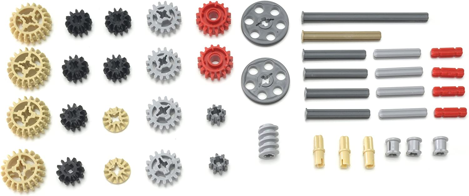 LEGO Technic 43 Piece lot, Gears and axles, Mindstorms, NXT, EV3