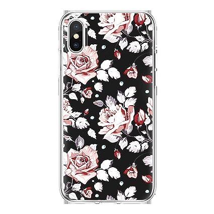 Amazon.com: tthappy76 TPU Case for iPhone X 7 8 Plus Rose ...