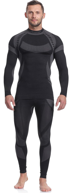 Ladeheid Herren Funktionsunterwäsche Set Langarm Shirt Lange Unterhose Thermoaktiv