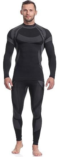 Ladeheid Herren und Kinder Funktionsunterwäsche Set Langarm Shirt Lange Unterhose Thermoaktiv
