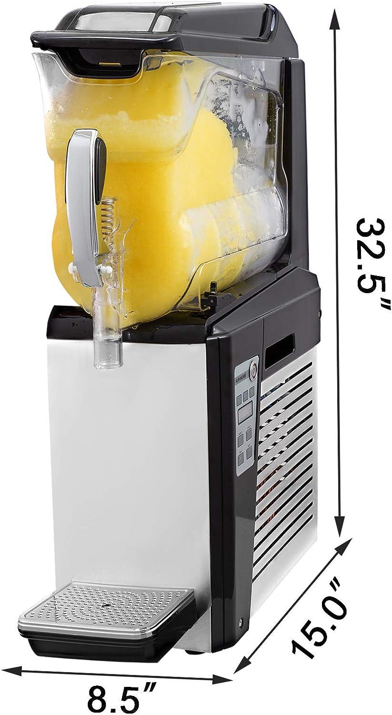 Anhon Máquina de Granizado de Bebidas Congeladas Acero Inoxidable ...