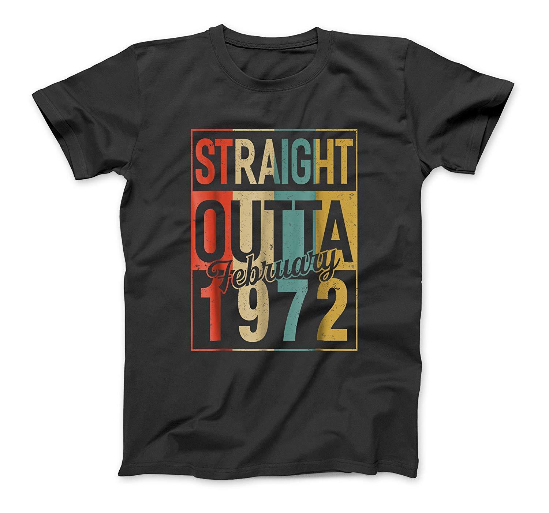 February Straight Outta 1972 47th Birthday Vintage Shirt Sweatshirt Hoodie Tank Top For Men Women Kids