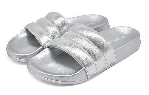 nouveau concept 46dba 03b58 ONCAI Chausson Femme Pantoufles Fille avec Sandales et Pantoufles  intérieures d'été Flash pour l'été