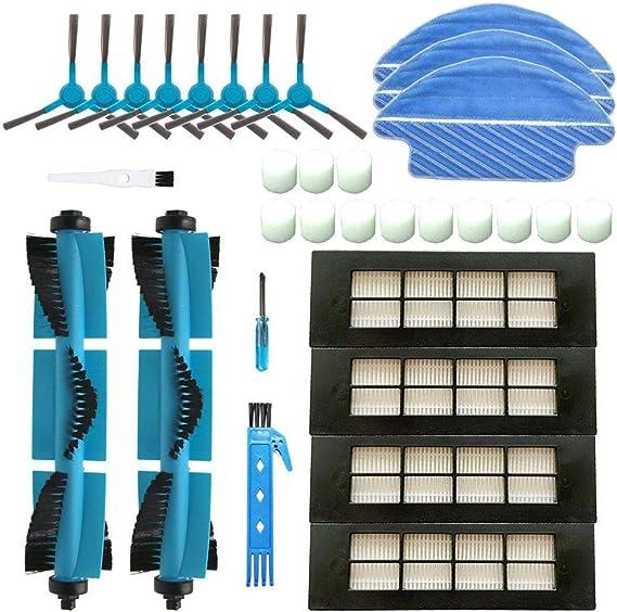 BSDY YQWRFEWYT Kit de Accesorios de Limpieza para Robots aspiradores Conga 3090 Excellence: 8 cepillos Laterales,4 Cepillo Central,1 Filtro HEPA,2 Cepillo de Limpieza: Amazon.es: Hogar