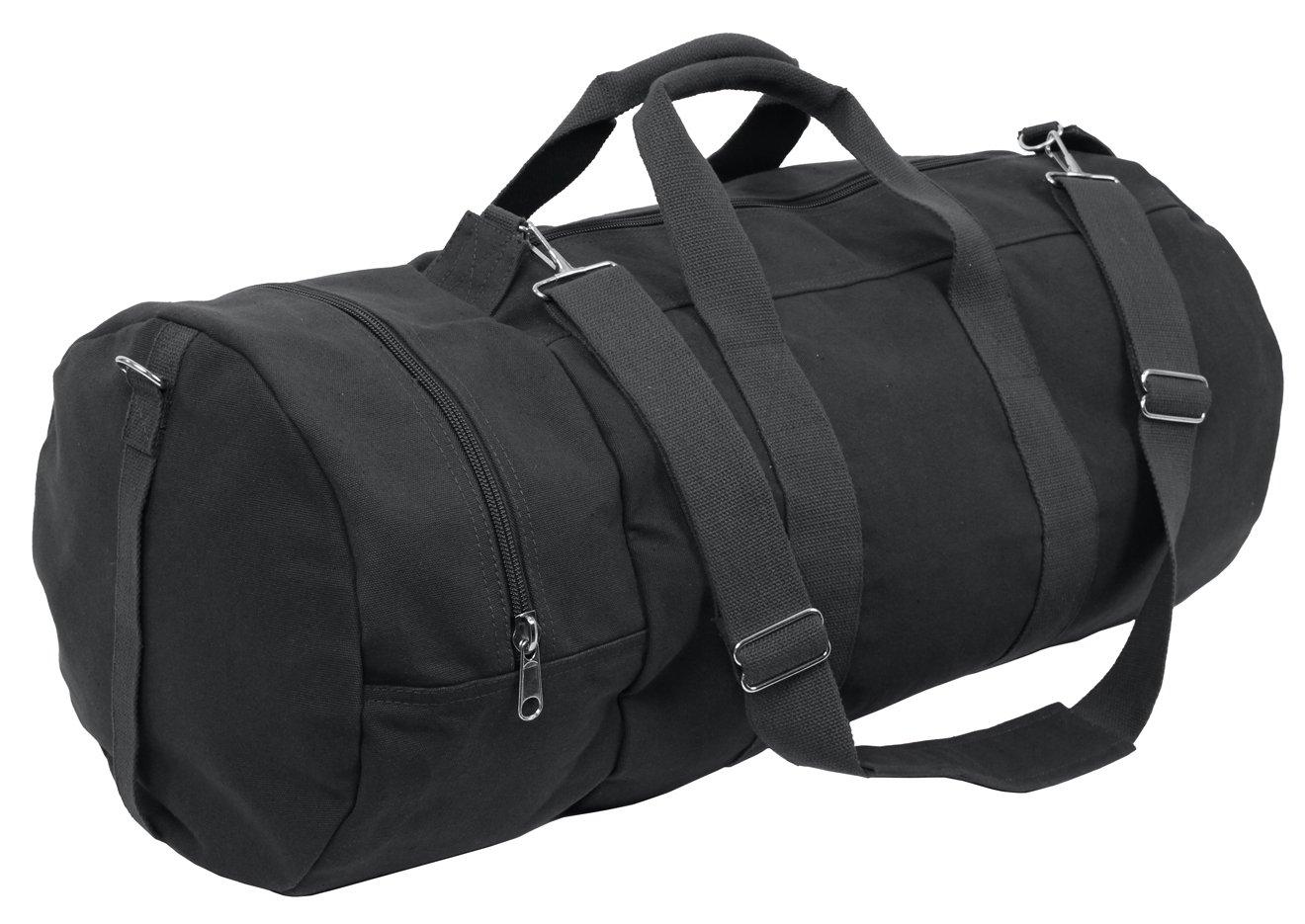 Rothco Canvas Double-Ender Sports Bag , Black