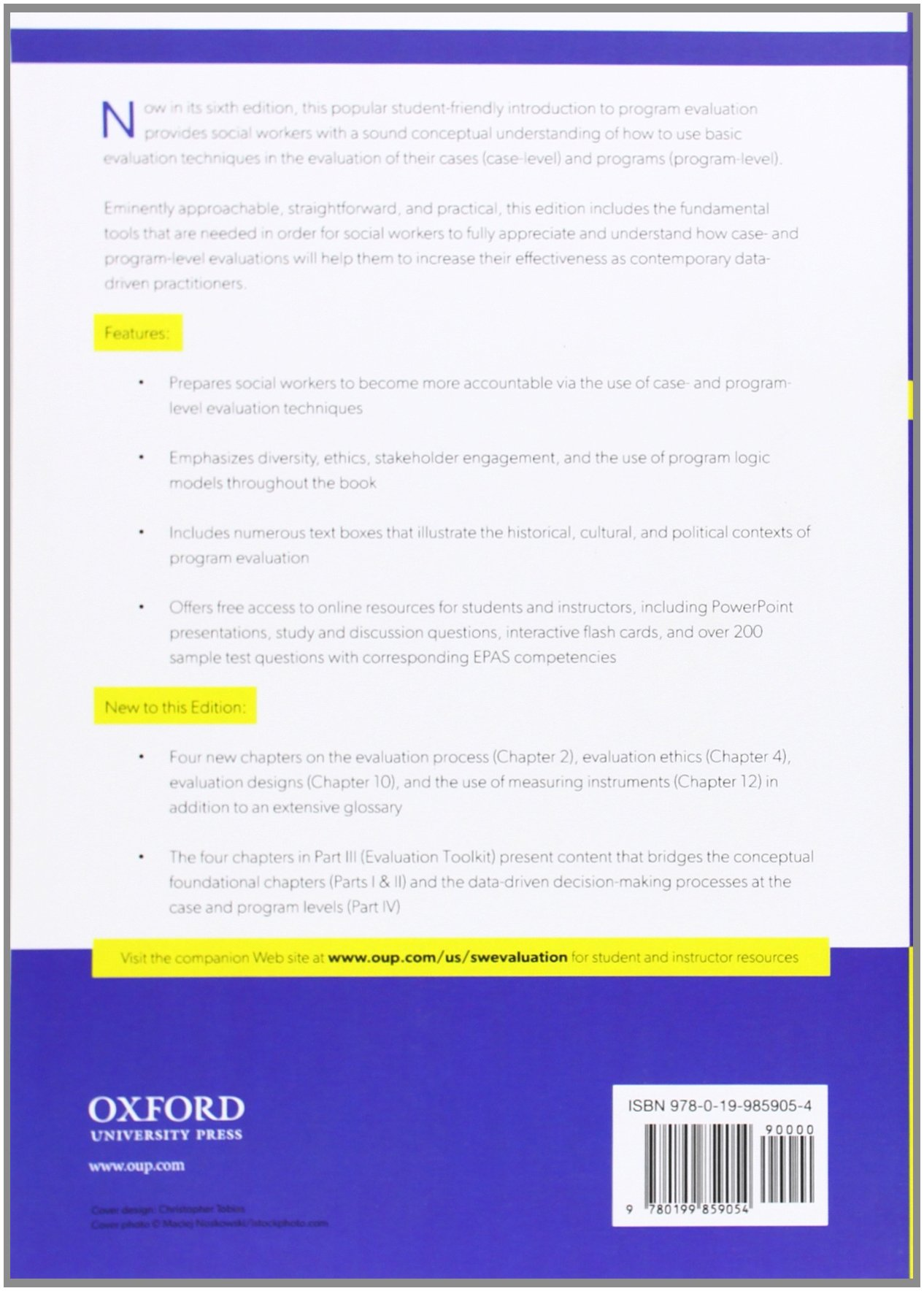 social work program evaluation example