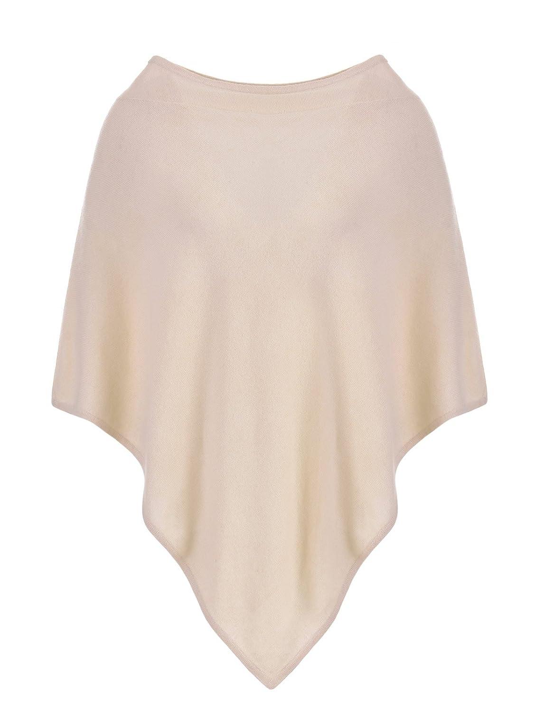 MILANO ITALY Damen Poncho Cardigan 100% Kaschmir, beige