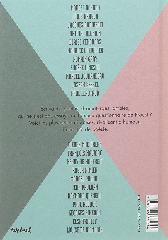Favorit Amazon.fr - Le Questionnaire de Proust - Collectif - Livres RH53